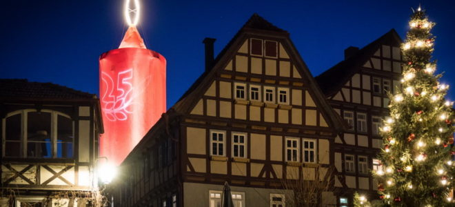 Schlitz - Größte Adventskerze